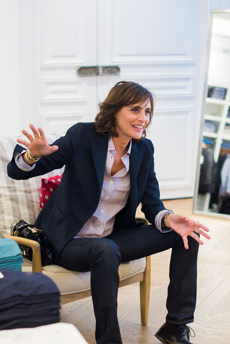 ines de la fressange x uniqlo mode and the city. Black Bedroom Furniture Sets. Home Design Ideas