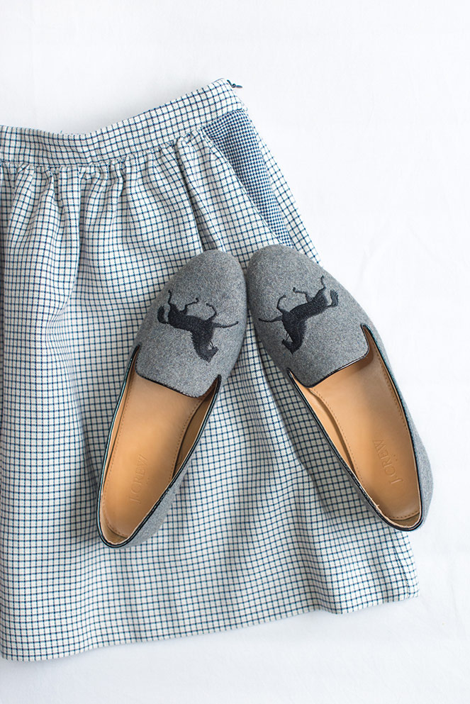 Mode And The City - www.modeandthecity.net - Les Cinq Petites Choses #120 - jupe monoprix - mocassins J.Crew