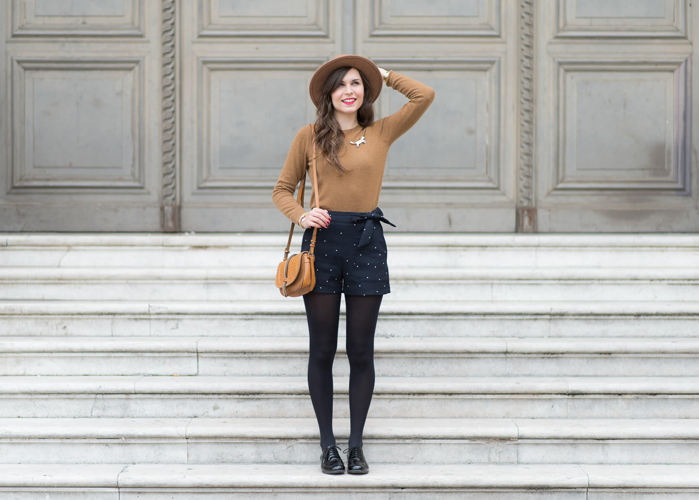 Blog-Mode-And-The-City-Look-Le-short-à-pois-2