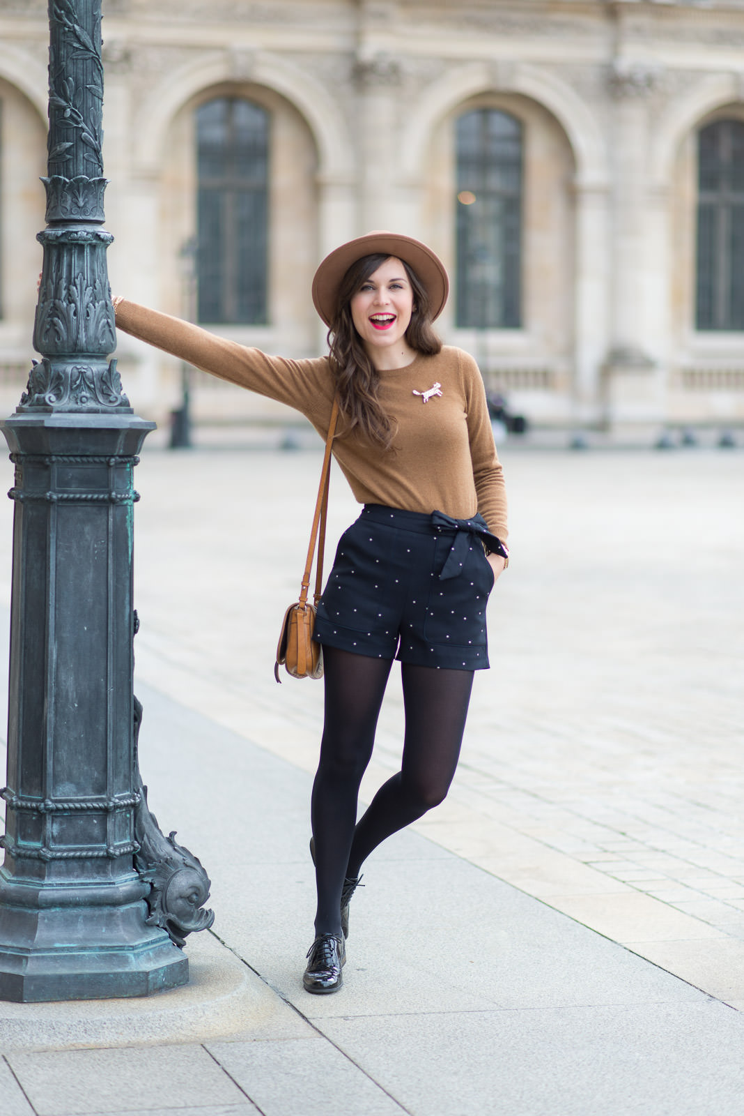 Le short pois mode and the city Fashion style girl hiver 2015
