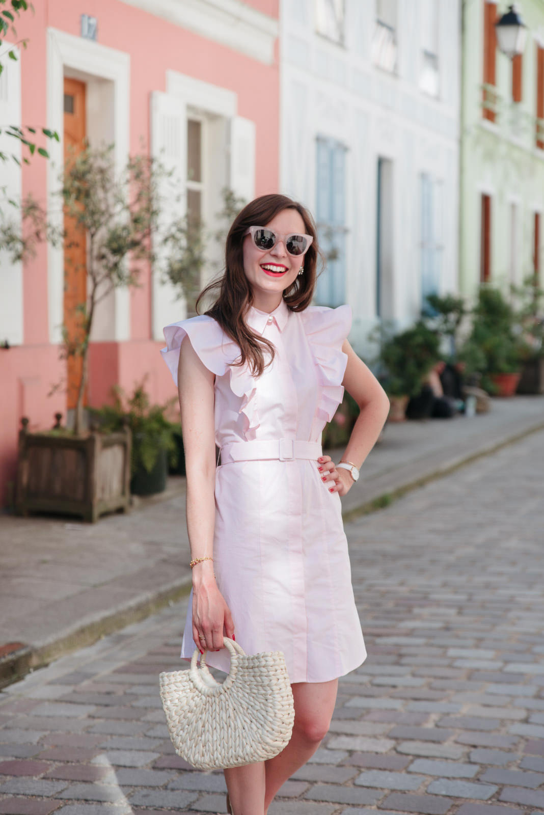 Blog-Mode-And-The-City-Looks-Claudie-Pierlot-robe-rose-volants-10