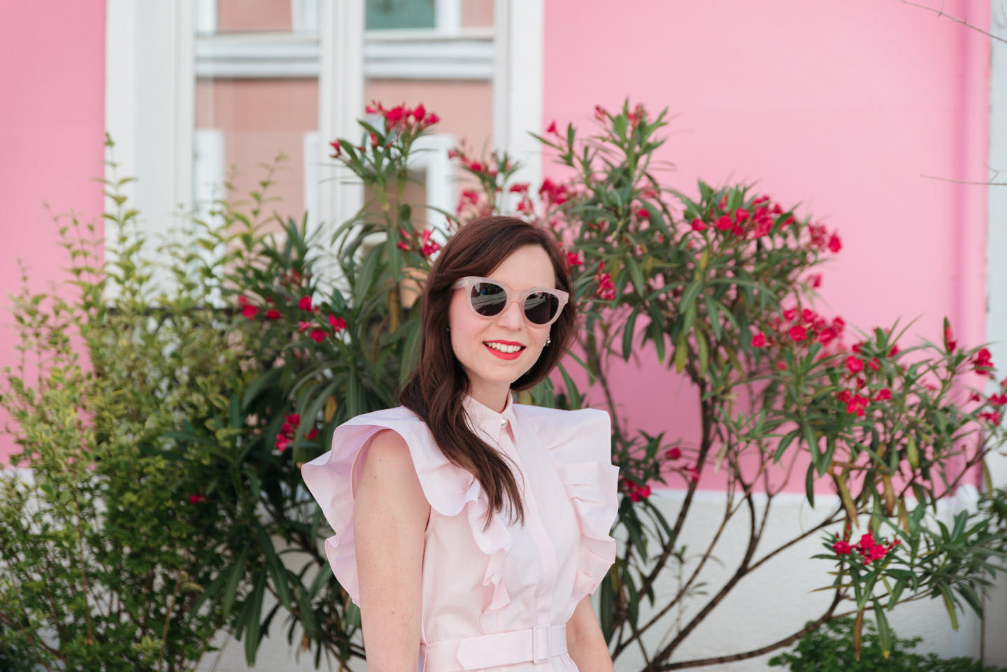 Blog-Mode-And-The-City-Looks-Claudie-Pierlot-robe-rose-volants-7