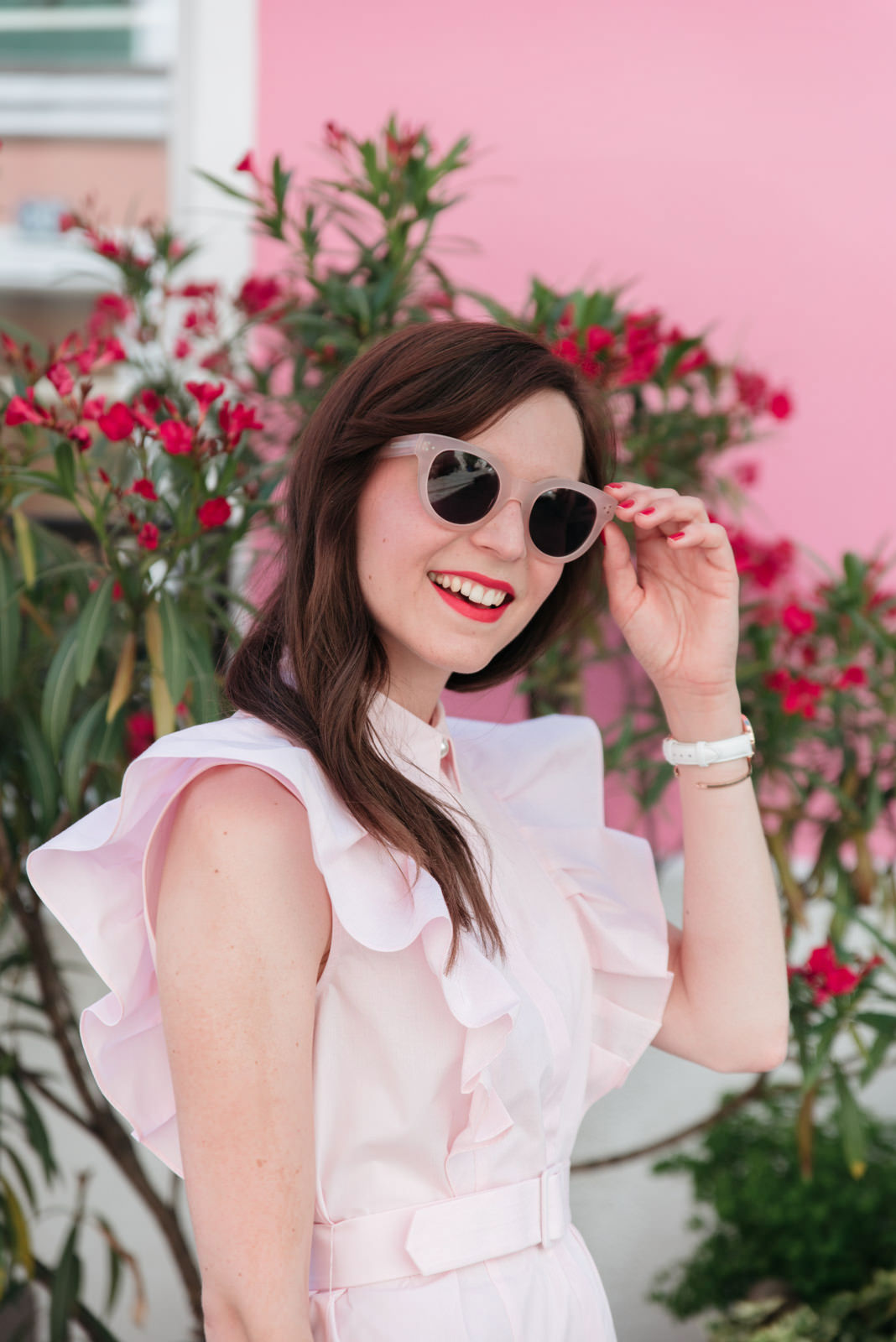 Blog-Mode-And-The-City-Looks-Claudie-Pierlot-robe-rose-volants-8