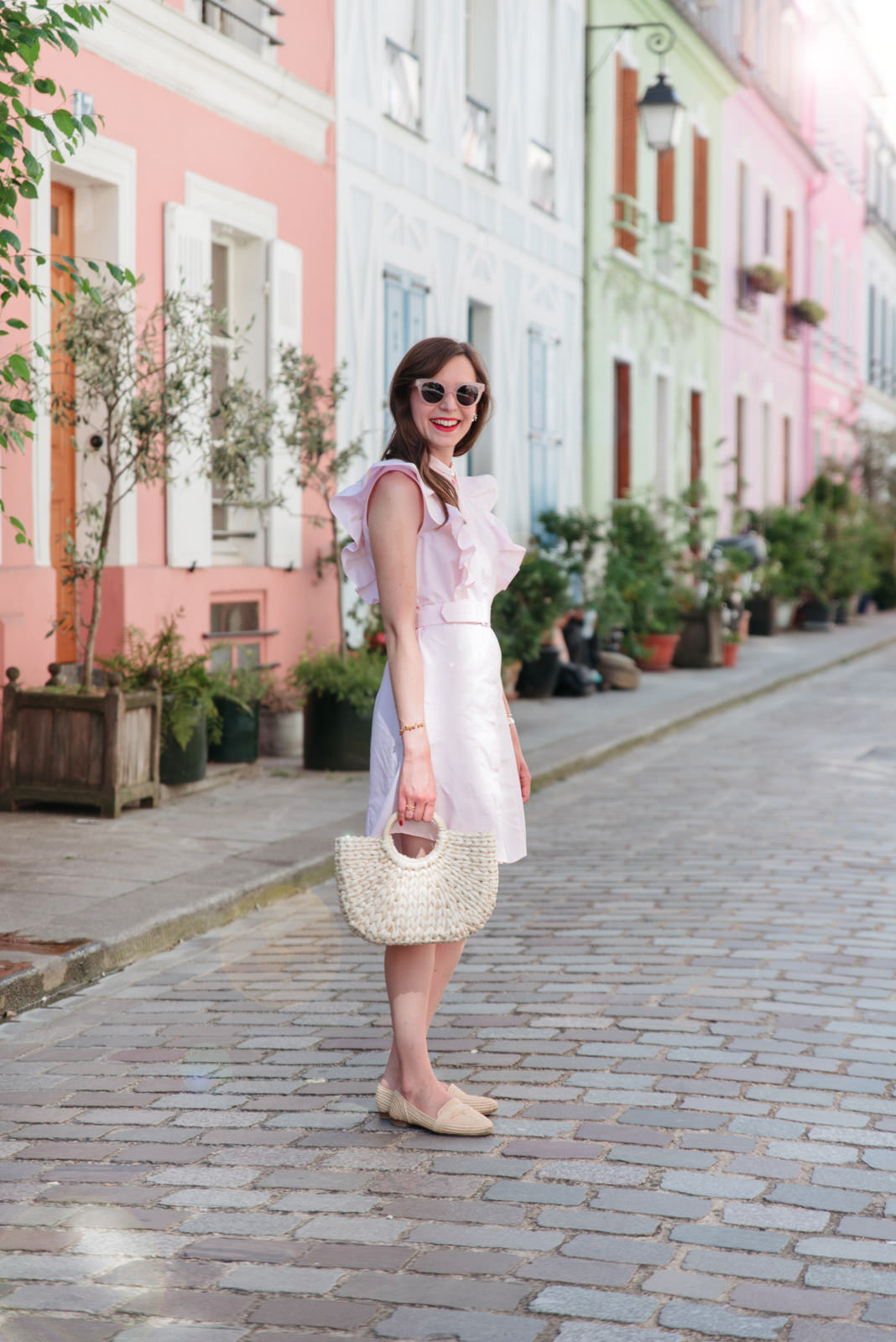 Blog-Mode-And-The-City-Looks-Claudie-Pierlot-robe-rose-volants-9