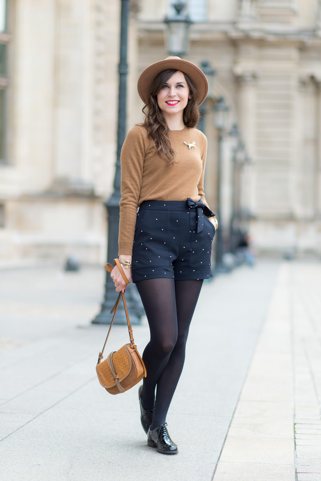 Blog-Mode-And-The-City-Look-Le-short-à-pois-7