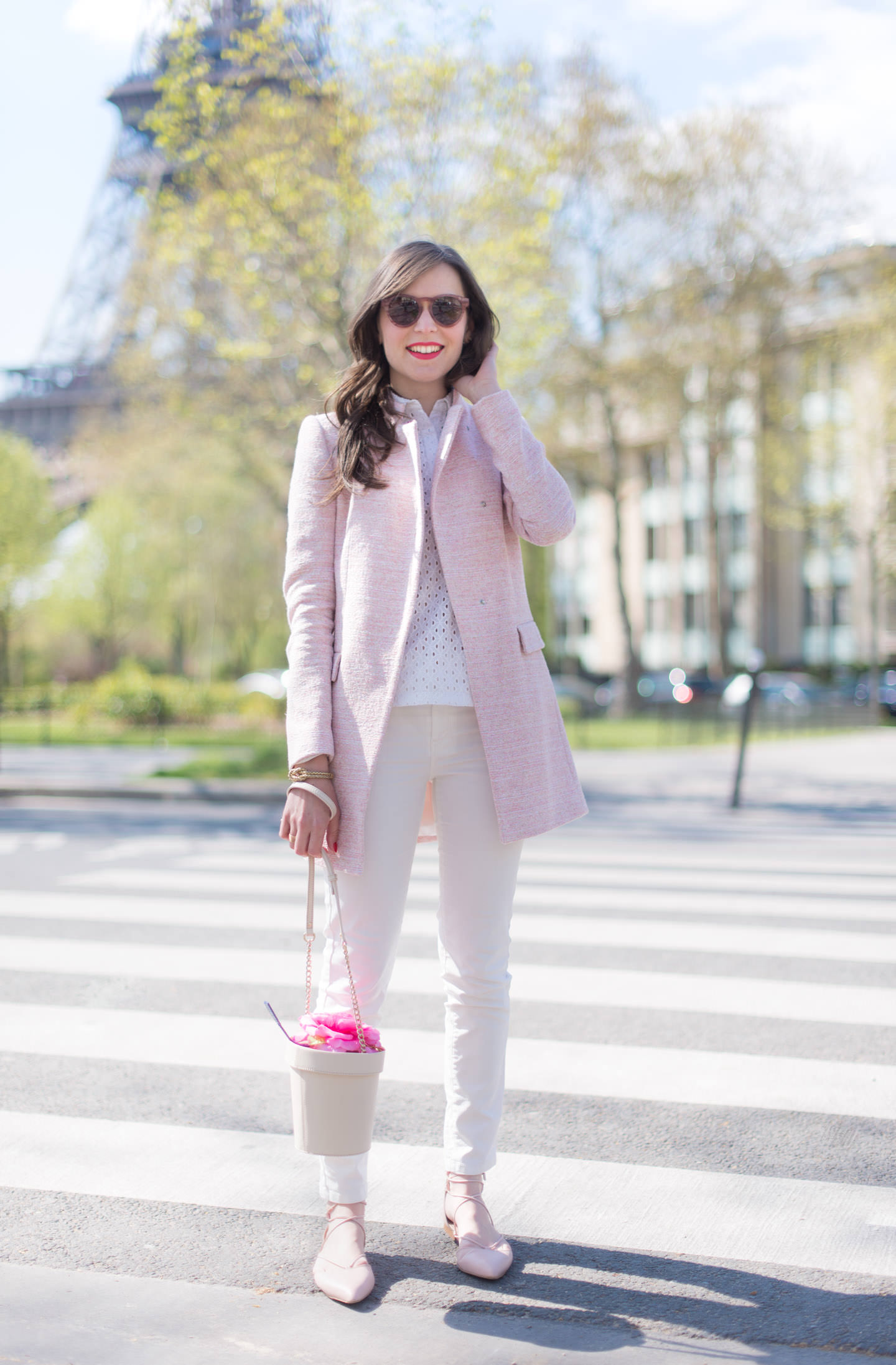 Blog-Mode-And-The-City-Looks-pink-Power-Manteau-zara-Rose