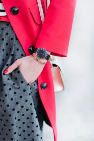La Classic Black et bracelets joncs Daniel Wellington - Daphné Moreau - Mode and The City