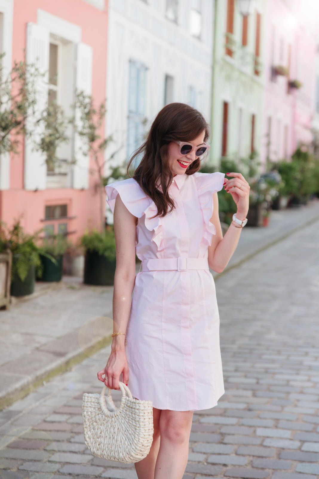 Blog-Mode-And-The-City-Looks-Claudie-Pierlot-robe-rose-volants-11
