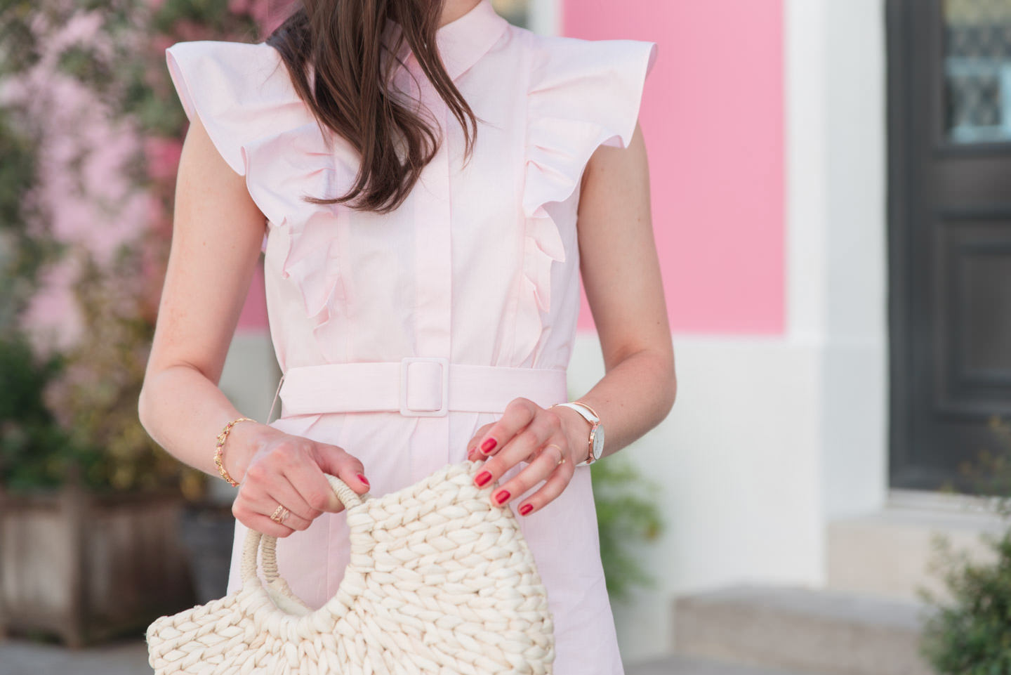Blog-Mode-And-The-City-Looks-Claudie-Pierlot-robe-rose-volants-2