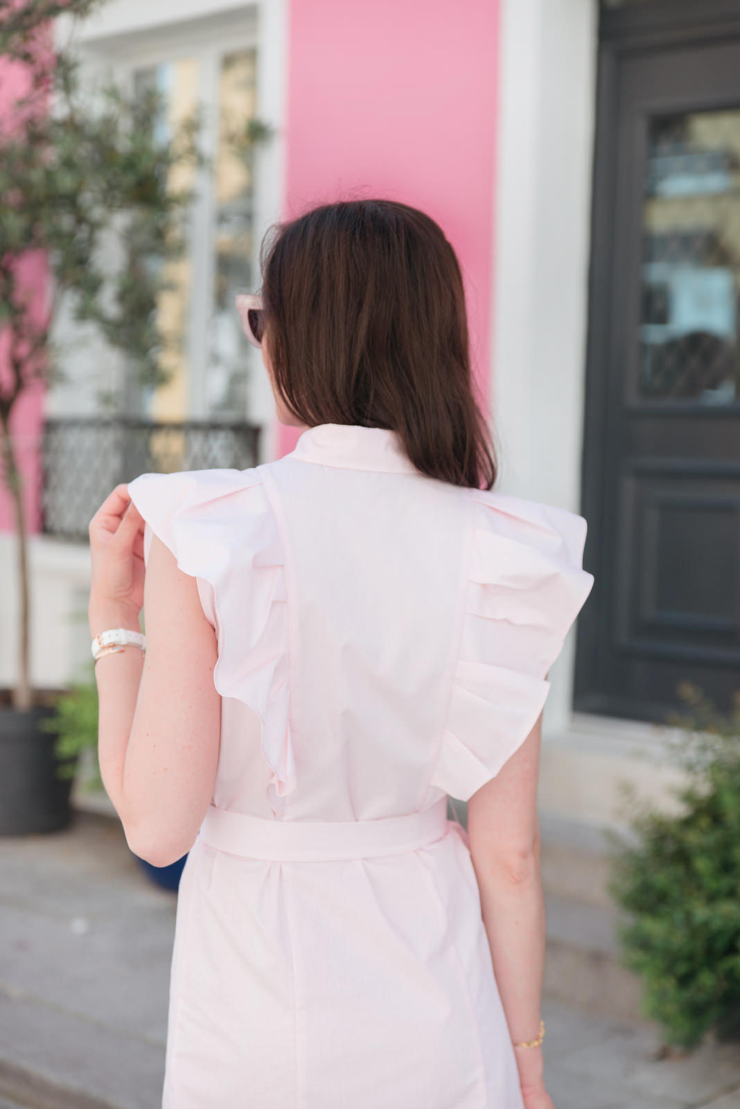 Blog-Mode-And-The-City-Looks-Claudie-Pierlot-robe-rose-volants-4