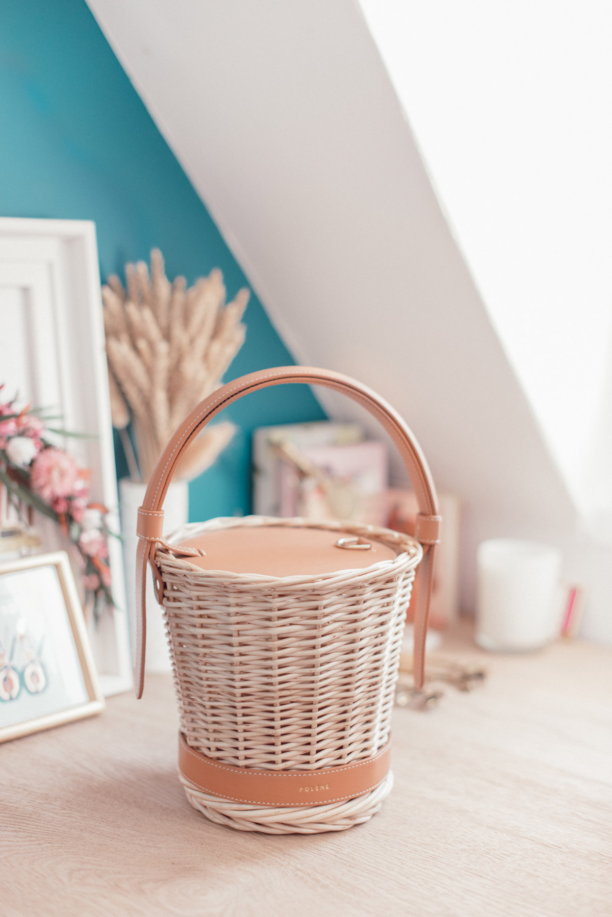 panier-osier-polene-cuir-basket-wicker-leather