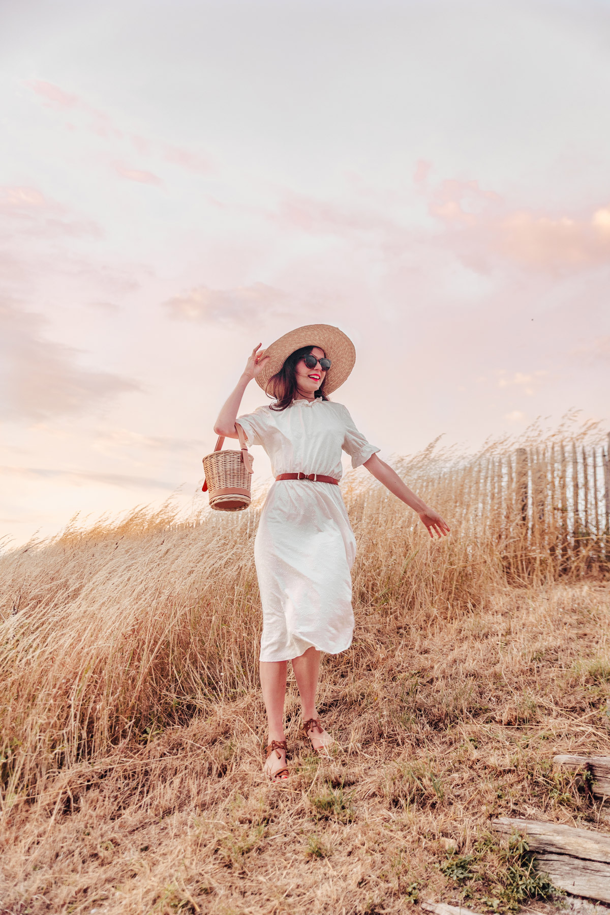 golden-hour-sunset-straw-hat