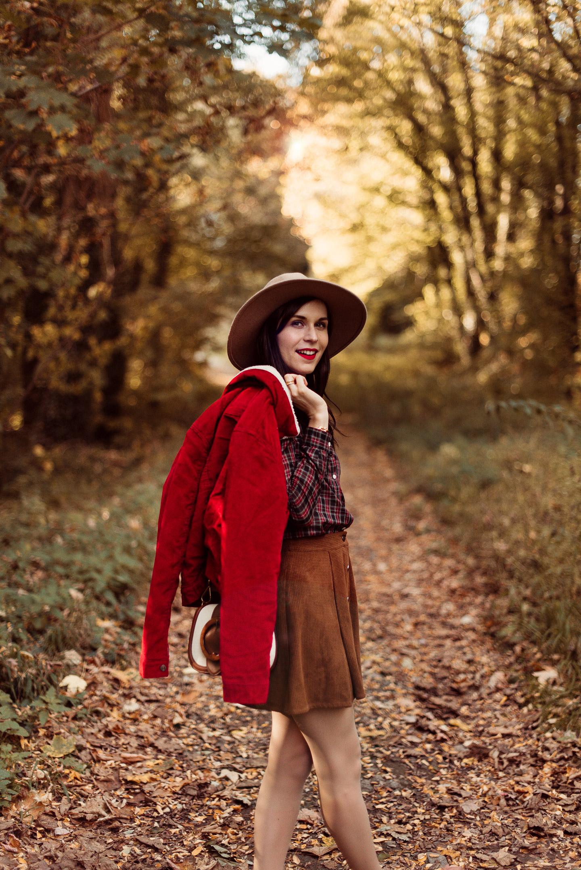 Shooting-foret-automne-veste-sherpa-levis_5532epaule