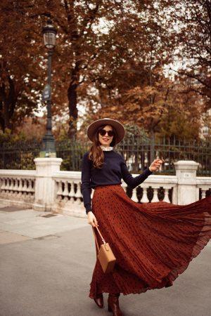Comment je porte la jupe longue en automne-hiver - Daphné Moreau - Mode and The City