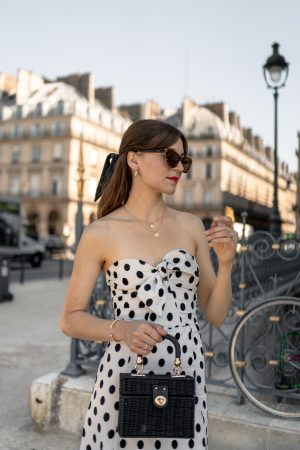 Comment je porte la robe bustier de façon rétro - Daphné Moreau - Mode and The City