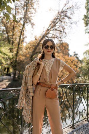 Voici comment je porte la combinaison pantalon pour la rentrée ! - Daphné Moreau - Mode and The City