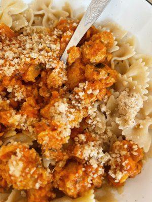 Ma recette de pâtes à la bolognaise végétariennes (option vegan) avec ou sans Thermomix - Daphné Moreau - Mode and The City